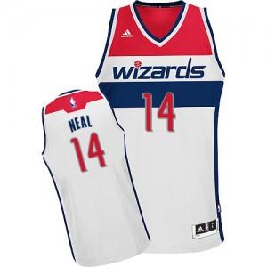 Maillot NBA Blanc Gary Neal #14 Washington Wizards Home Swingman Homme Adidas