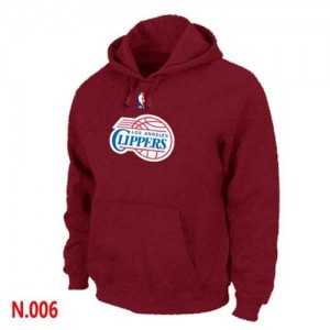 Los Angeles Clippers Sweat à capuche d'équipe de NBA - Rouge pour Homme