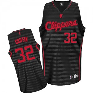 Maillot NBA Gris noir Blake Griffin #32 Los Angeles Clippers Groove Authentic Homme Adidas