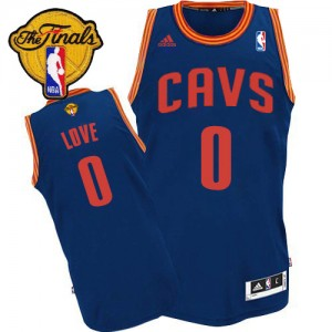 Maillot NBA Cleveland Cavaliers #0 Kevin Love Bleu clair Adidas Swingman Revolution 30 2015 The Finals Patch - Homme