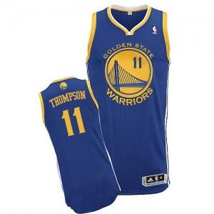 Golden State Warriors #11 Adidas Road Bleu royal Authentic Maillot d'équipe de NBA Prix d'usine - Klay Thompson pour Femme