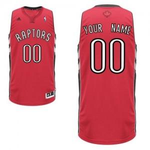 Toronto Raptors Personnalisé Adidas Road Rouge Maillot d'équipe de NBA pas cher - Swingman pour Homme