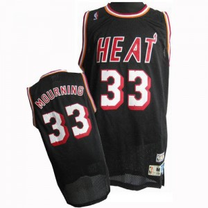 Maillot Authentic Miami Heat NBA Throwback Noir - #33 Alonzo Mourning - Homme