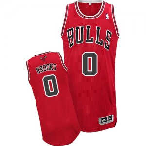 Maillot NBA Rouge Aaron Brooks #0 Chicago Bulls Road Authentic Homme Adidas