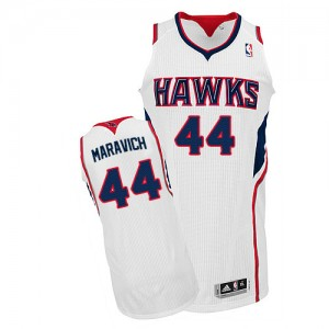 Maillot Adidas Blanc Home Authentic Atlanta Hawks - Pete Maravich #44 - Homme