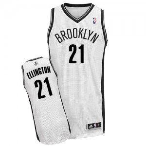 Brooklyn Nets Wayne Ellington #21 Home Authentic Maillot d'équipe de NBA - Blanc pour Homme
