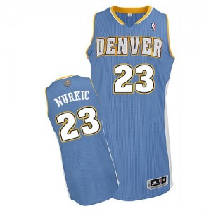 Maillot Adidas Bleu clair Road Authentic Denver Nuggets - Jusuf Nurkic #23 - Homme