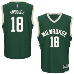 Milwaukee Bucks Greivis Vasquez #18 Road Authentic Maillot d'équipe de NBA - Vert pour Homme
