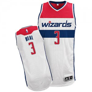 Maillot NBA Blanc Bradley Beal #3 Washington Wizards Home Authentic Homme Adidas