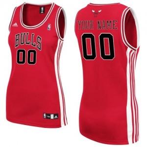 Maillot NBA Chicago Bulls Personnalisé Authentic Rouge Adidas Road - Femme