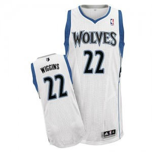 Maillot NBA Minnesota Timberwolves #22 Andrew Wiggins Blanc Adidas Authentic Home - Homme