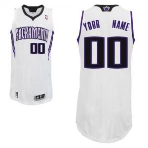 Sacramento Kings Personnalisé Adidas Home Blanc Maillot d'équipe de NBA préférentiel - Authentic pour Homme