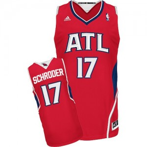 Maillot NBA Rouge Dennis Schroder #17 Atlanta Hawks Alternate Swingman Homme Adidas