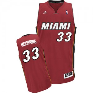 Maillot NBA Swingman Alonzo Mourning #33 Miami Heat Alternate Rouge - Homme