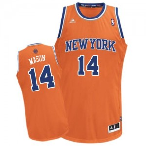 Maillot Swingman New York Knicks NBA Alternate Orange - #14 Anthony Mason - Homme