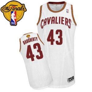 Cleveland Cavaliers Brad Daugherty #43 Home 2015 The Finals Patch Authentic Maillot d'équipe de NBA - Blanc pour Homme