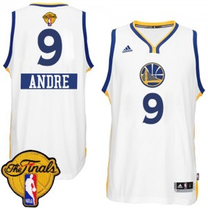 Golden State Warriors #9 Adidas 2014-15 Christmas Day 2015 The Finals Patch Blanc Authentic Maillot d'équipe de NBA Soldes discount - Andre Iguodala pour Homme