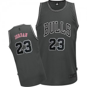 Maillot Adidas Gris Graystone II Fashion Authentic Chicago Bulls - Michael Jordan #23 - Homme