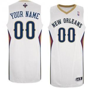 Maillot Adidas Blanc Home New Orleans Pelicans - Authentic Personnalisé - Homme