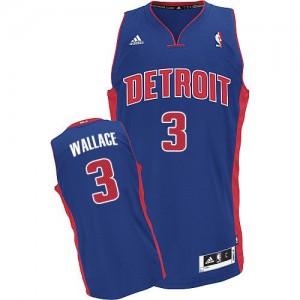Detroit Pistons Ben Wallace #3 Road Swingman Maillot d'équipe de NBA - Bleu royal pour Homme