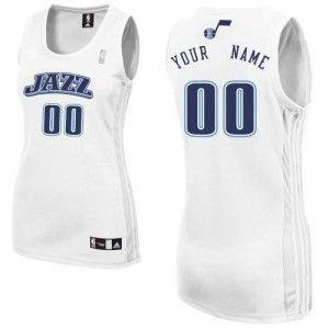 Maillot NBA Blanc Authentic Personnalisé Utah Jazz Home Femme Adidas