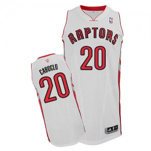 Maillot NBA Toronto Raptors #20 Bruno Caboclo Blanc Adidas Authentic Home - Homme