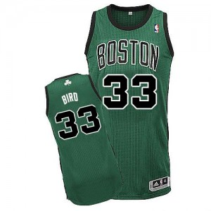 Maillot NBA Authentic Larry Bird #33 Boston Celtics Alternate Vert (No. noir) - Enfants