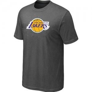 Los Angeles Lakers Big & Tall Gris foncé T-Shirt d'équipe de NBA vente en ligne - pour Homme