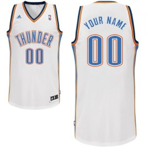 Oklahoma City Thunder Personnalisé Adidas Home Blanc Maillot d'équipe de NBA pas cher en ligne - Swingman pour Enfants