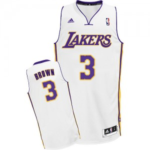 Los Angeles Lakers #3 Adidas Alternate Blanc Swingman Maillot d'équipe de NBA à vendre - Anthony Brown pour Homme