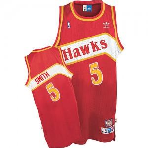 Maillot NBA Swingman Josh Smith #5 Atlanta Hawks Throwback Rouge - Homme
