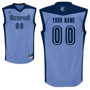 Memphis Grizzlies Authentic Personnalisé Alternate Maillot d'équipe de NBA - Bleu clair pour Femme