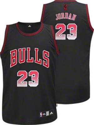 Maillot Authentic Chicago Bulls NBA Vibe Noir - #23 Michael Jordan - Homme