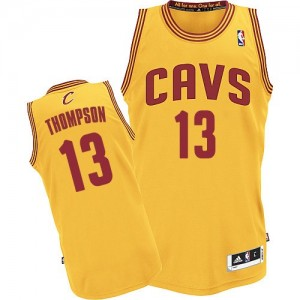 Maillot NBA Authentic Tristan Thompson #13 Cleveland Cavaliers Alternate Or - Homme