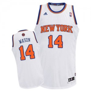 Maillot NBA Swingman Anthony Mason #14 New York Knicks Home Blanc - Homme
