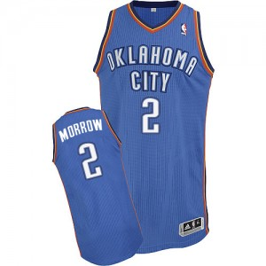 Maillot Authentic Oklahoma City Thunder NBA Road Bleu royal - #2 Anthony Morrow - Homme