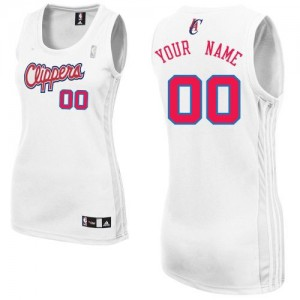 Los Angeles Clippers Authentic Personnalisé Home Maillot d'équipe de NBA - Blanc pour Femme