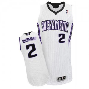 Maillot NBA Blanc Mitch Richmond #2 Sacramento Kings Home Authentic Homme Adidas