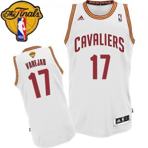 Maillot Swingman Cleveland Cavaliers NBA Home 2015 The Finals Patch Blanc - #17 Anderson Varejao - Homme