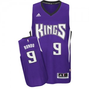 Maillot NBA Sacramento Kings #9 Rajon Rondo Violet Adidas Authentic Road - Homme