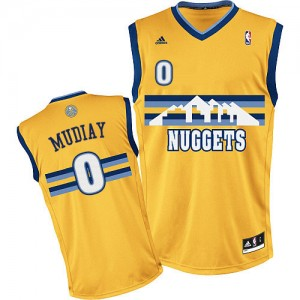 Maillot Adidas Or Alternate Swingman Denver Nuggets - Emmanuel Mudiay #0 - Homme
