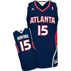 Maillot NBA Atlanta Hawks #15 Al Horford Bleu marin Adidas Swingman Road - Homme