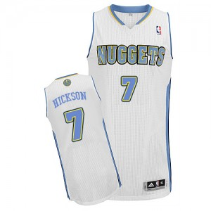 Maillot NBA Blanc JJ Hickson #7 Denver Nuggets Home Authentic Homme Adidas