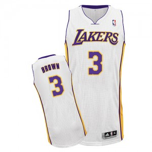 Los Angeles Lakers #3 Adidas Alternate Blanc Authentic Maillot d'équipe de NBA pour pas cher - Anthony Brown pour Homme