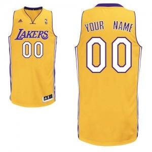 Los Angeles Lakers Personnalisé Adidas Home Or Maillot d'équipe de NBA vente en ligne - Swingman pour Enfants