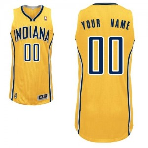 Maillot NBA Authentic Personnalisé Indiana Pacers Alternate Or - Homme
