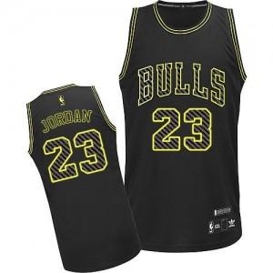 Maillot Authentic Chicago Bulls NBA Electricity Fashion Noir - #23 Michael Jordan - Homme