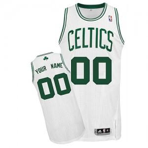 Maillot NBA Blanc Authentic Personnalisé Boston Celtics Home Enfants Adidas