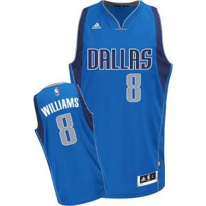 Maillot NBA Bleu royal Deron Williams #8 Dallas Mavericks Road Swingman Femme Adidas