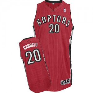 Maillot NBA Authentic Bruno Caboclo #20 Toronto Raptors Road Rouge - Homme